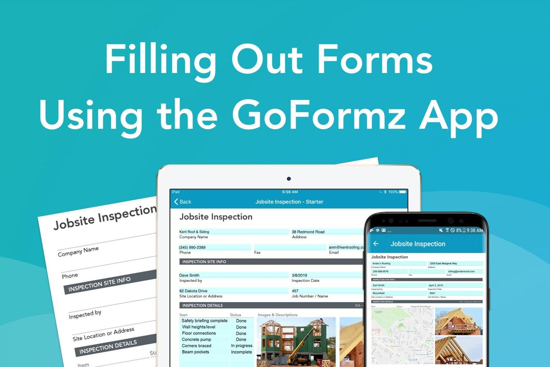 Filling Out a Form Using the GoFormz App · Blog | GoFormz