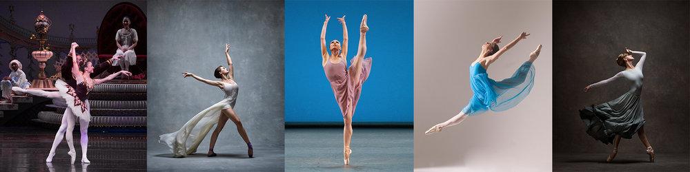 Betsy McBride (ABT), Lauren Lovette (NYCB), Sara Mearns (NYCB), Alexandra Basmagy (ABT), Holly Dorger (Royal Danish Ballet)