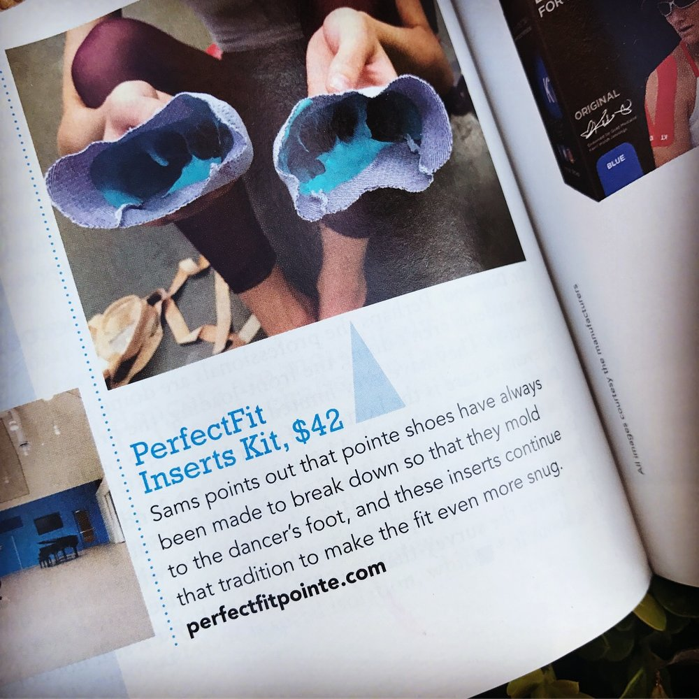 "Dance Magazine , November 2018,  ""Strengthen Smarter: 13 Tools to Help Prevent Injury"""