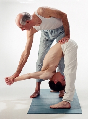 Kedric Wolfe and Michael Curtis have been doing yoga together for 16 years.