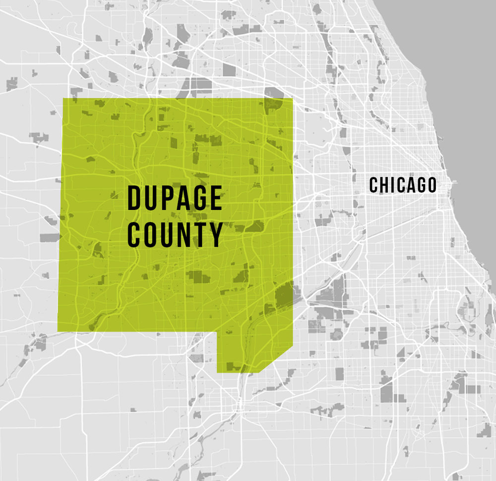 DuPage County is a county in the U.S. state of Illinois, and one of the collar counties of the Chicago metropolitan area. As of the 2010 census, the population was 916,924, making it Illinois' second-most populous county. Its county seat is Wheaton.