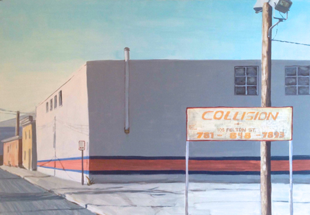 "Collision , Hannah Richman, oil on canvas, 32"" x 46"", $1,500"