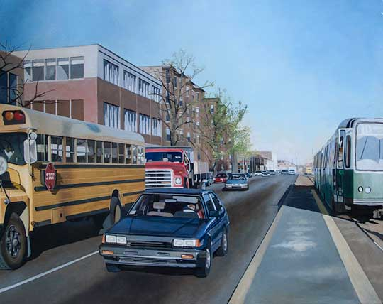 "Babcock Street,   oil on canvas, 25"" x 30"",   $2400"