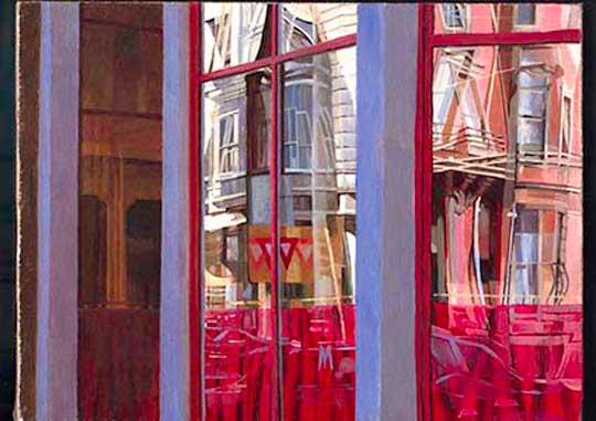 """Metropolis,  oil on canvas, 10"""" x 12"""" framed,  $1200"""