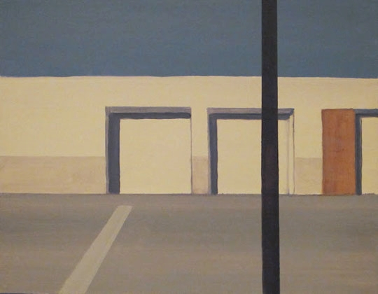 "Fulkerson Street I,   oil on canvas, 14"" x 18"",   $400"