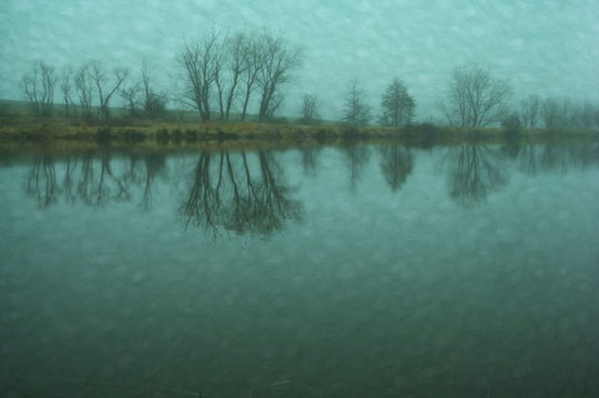 "Fog 9,   photograph on watercolor paper, 18"" x 22"" framed,   $325"