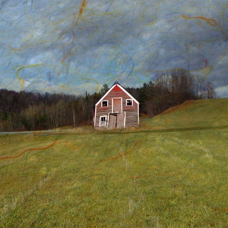 "Dream House 4,   photograph on watercolor paper, 16"" x 16"",   $185"