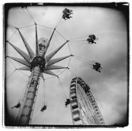 "Flight,   silver gelatin print, 20"" x 16"" matted"