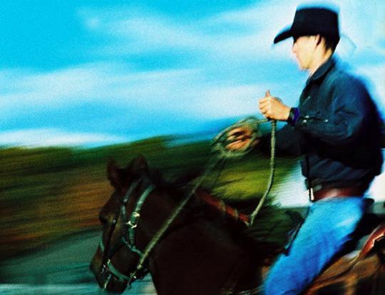 "Cowboy Blue,  archival inkjet print, 24"" x 28¼"" framed, print size 16"" x 20"",  $600"