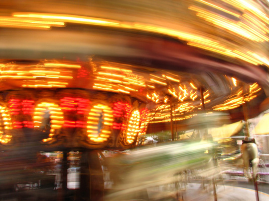 "Carousel,   metallic chromogenic print, 21"" x 25"",   $425 framed"