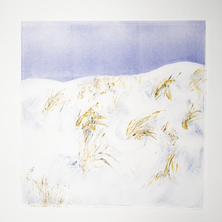 "Snowy Dune II,  monotype, 14"" x 13½""  $250"
