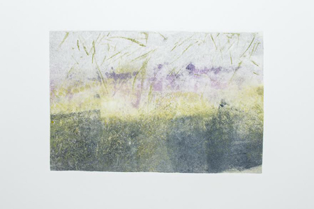 "Under the Tide,   monotype, 14¼"" x 13¾"" framed   $350"