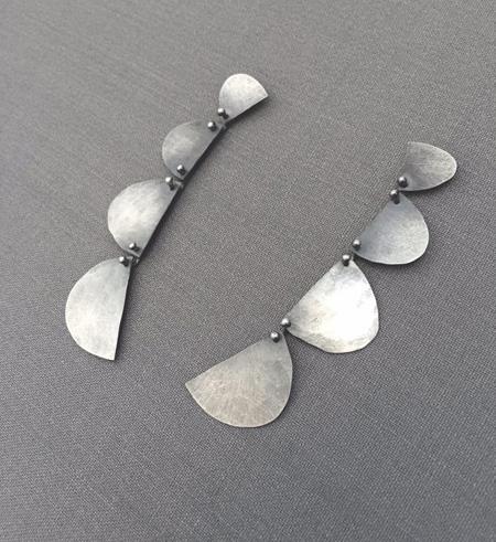 Four Half Moon Earrings,  sterling silver,  $136