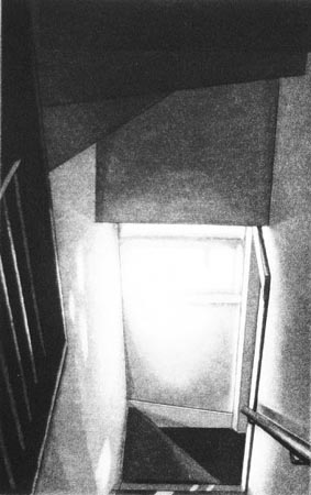 "Untitled ('house' series),   etching, 7½"" x 4¾""   $170"