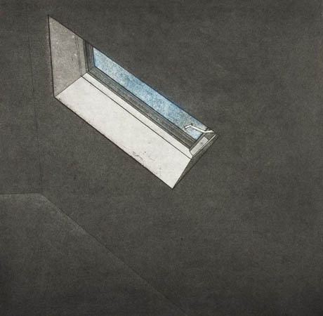"Untitled (Light IV),   etching, aquatint, 8"" x 8""   $170"
