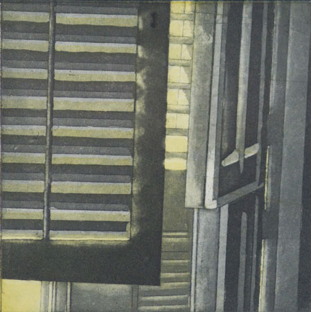 "Untitled,   etching, aquatint on paper, 3¾"" x 5""   $40"