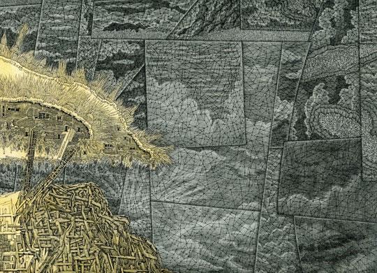 "Detail from Masada #2,  digital print, 12"" x 14½""  $250"