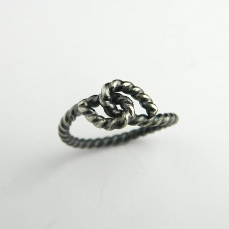 Forget-me-knot stack rings - various sizes  , sterling silver, $30 each
