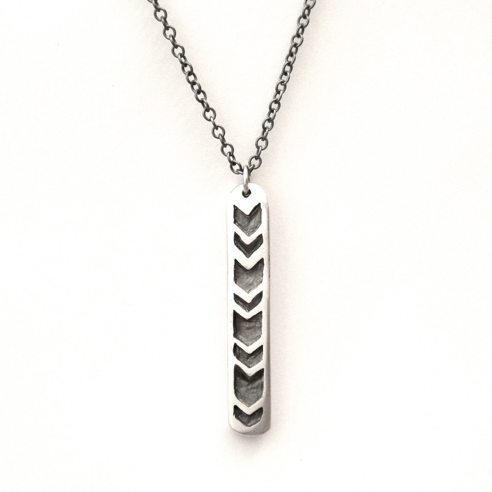 The Revival arrow pendant , sterling sliver