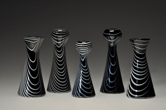 Glass Vases,   handblown glass,   between $50 and $70 each