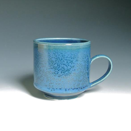 "Navy Layered Mug,   porcelain,   3"" x 4"", $36"