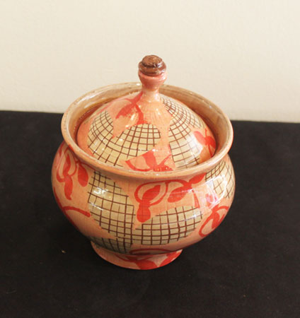 "ceramic sugar bowl  , 5"" x 5"",   $95"