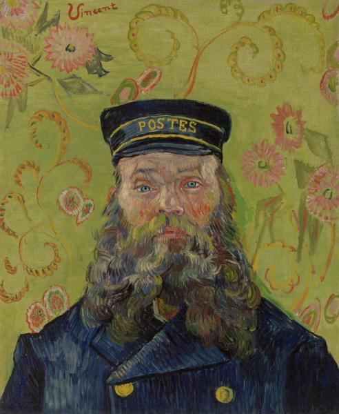The Postman (Joseph-Étienne Roulin), Vincent Van Gogh, 1889, oil on canva