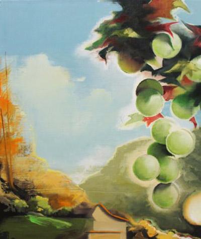 """Promised Land (1310) , Wilhelm Neusser, oil on linen, 24"""" x 20"""", $2,000"""