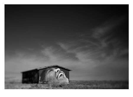 "Funny House , Dominic Chavez, digital photograph on archival silver rag paper, 28"" x 31"" framed, $2,100"