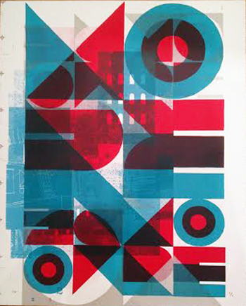 "Once More (1/1) , James Weinberg, silkscreen monoprint, 21""¼ x 17""¼, $325"