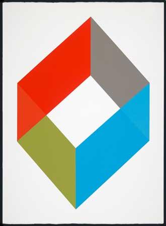 """Varsity , John Guthrie, acrylic on paper, 32"""" x 24"""" framed, $1,900"""