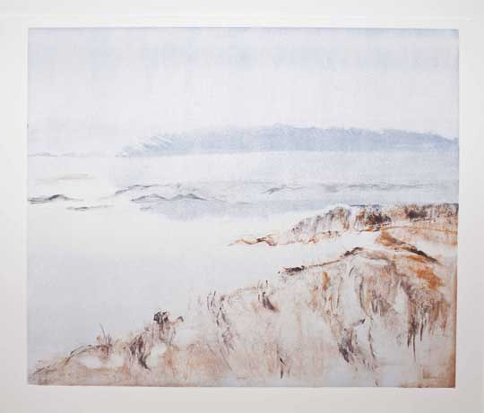 "Fog, Winter Marsh , Barbara Nachmias-Kedesdy, monotype, 18¼"" x 21¾"" framed, $425"