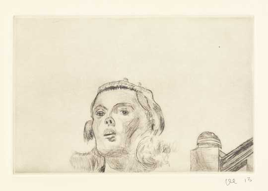 "Sandy Dennis 2: Revelation , David Curcio, drypoint etching, 16"" x 17½"" framed, $500"