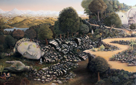 "Valley of the Giants , John Campbell, oil on linen, 24"" x 36"", $4,500"