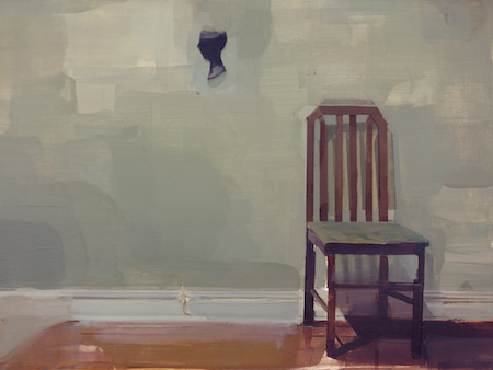 "Gestalt_1 (Brooklyn Misremembered) , Mike Ryczek, oil on masonite, 12"" x 16"", $850"