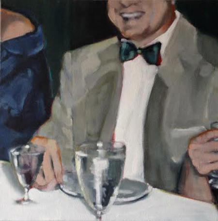 "Man with Bow Tie,   oil on canvas, 24"" x 24"""