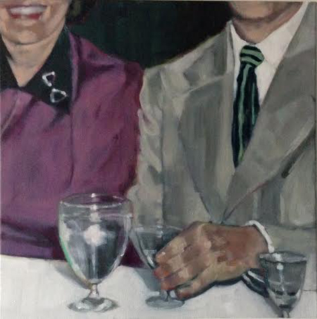 """Man with Striped Tie,  oil on canvas, 24"""" x 24"""",   $1,850"""