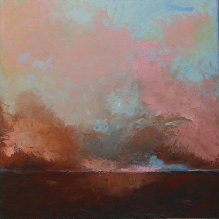 "Copper Skies,   oil on canvas, 36"" x 36"" framed ,  $3,900"