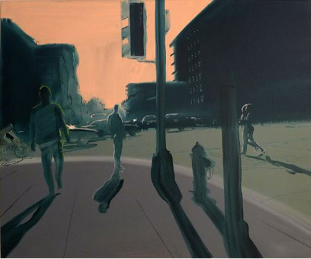 """Intersection,  oil on linen, 30"""" x 36"""" ,  $2,000"""