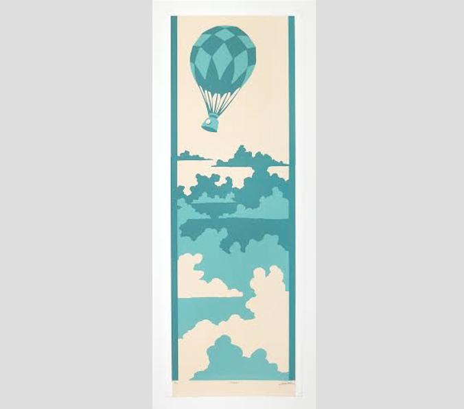 """Embark (7/11),  screenprint, 32¼"""" x 13¾"""""""