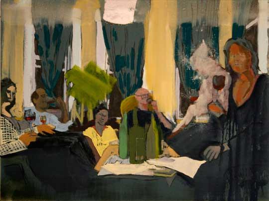 """Wine Tasting,  oil on canvas, 18"""" x 24"""""""