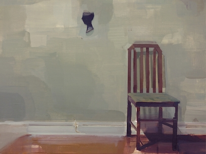 "Gestalt_1 (Brooklyn Misremembered) , oil on masonite, 12"" x 16"", $850"