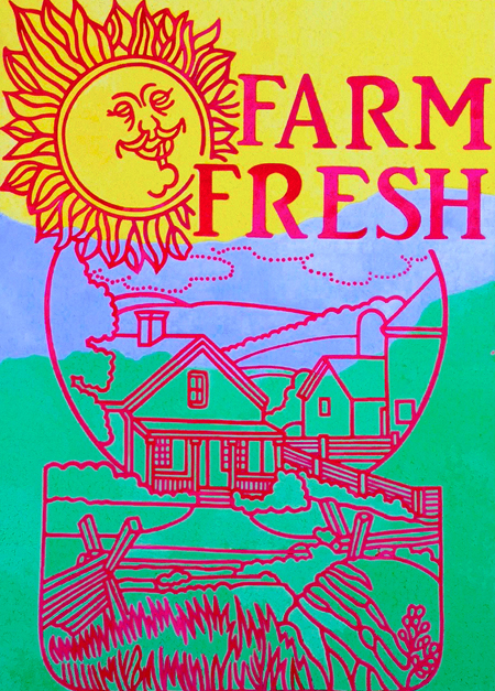 "Farm Fresh,   oil on canvas, 56"" x 40""   $2,400"