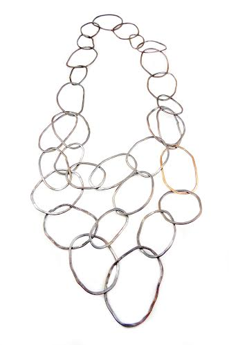 Multilayer Compression Necklace , copper, $88