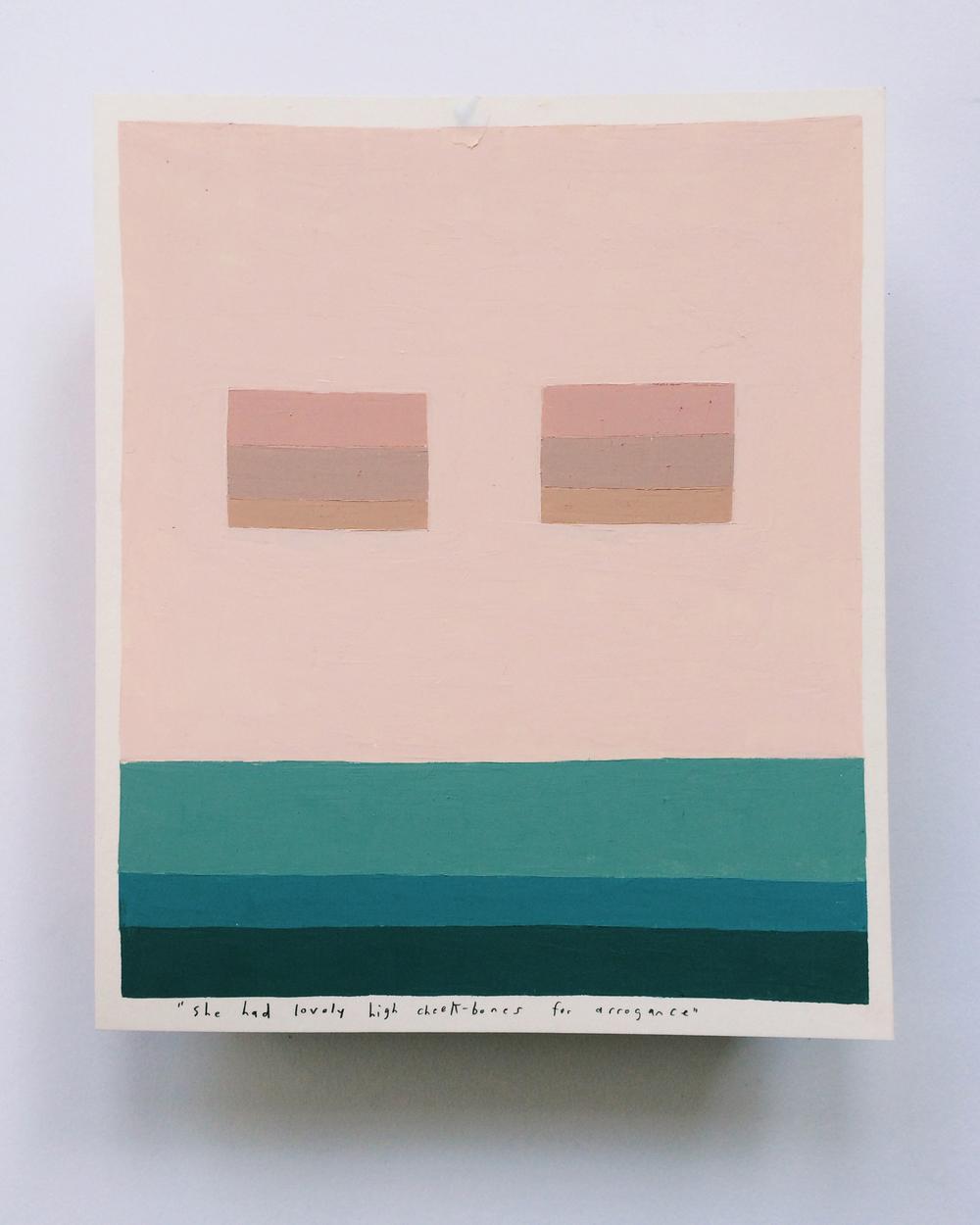 """Lovely High Cheekbones , oil on paper,15"""" x 12"""" framed,$250"""