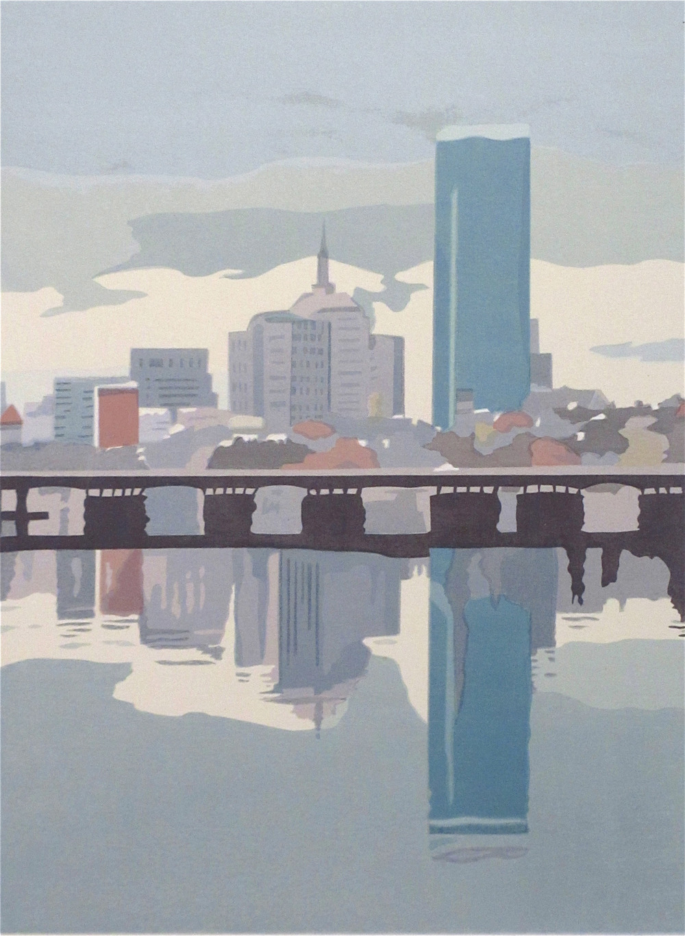 "Boston in the Mists (4/50) , serigraph, 22 1/2"" x 18 1/2"" framed, $500, also available unframed, 19"" x 15"", $290"