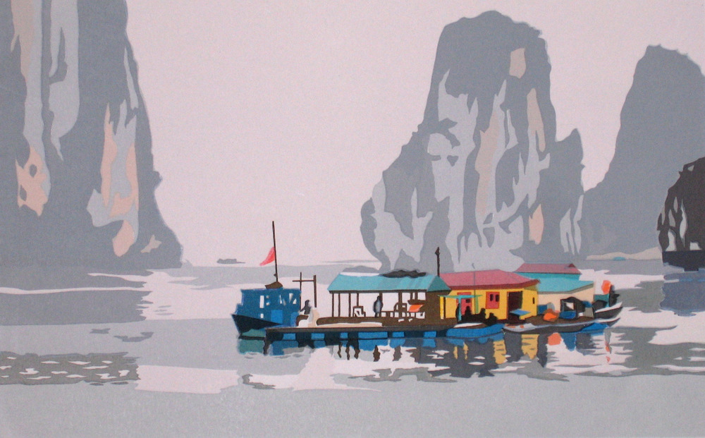 "Ha Long Bay, Vietnam (57/70) , serigraph, 11"" x 15"", $165"