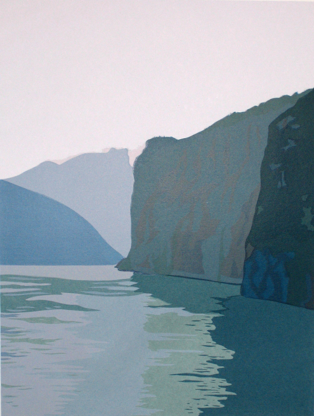 "In China: Misty Morning (20/50) , serigraph, 22"" x 15"", $290"
