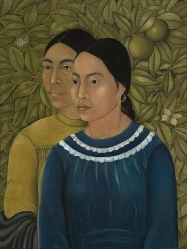 Frida Kahlo's Dos Mujeres (Salvadora y Herminia), 1928, was acquired by the MFA in December 2015
