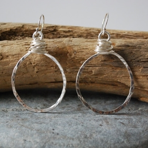 Betty's  earrings, fine silver with sterling silver ear wires, $78